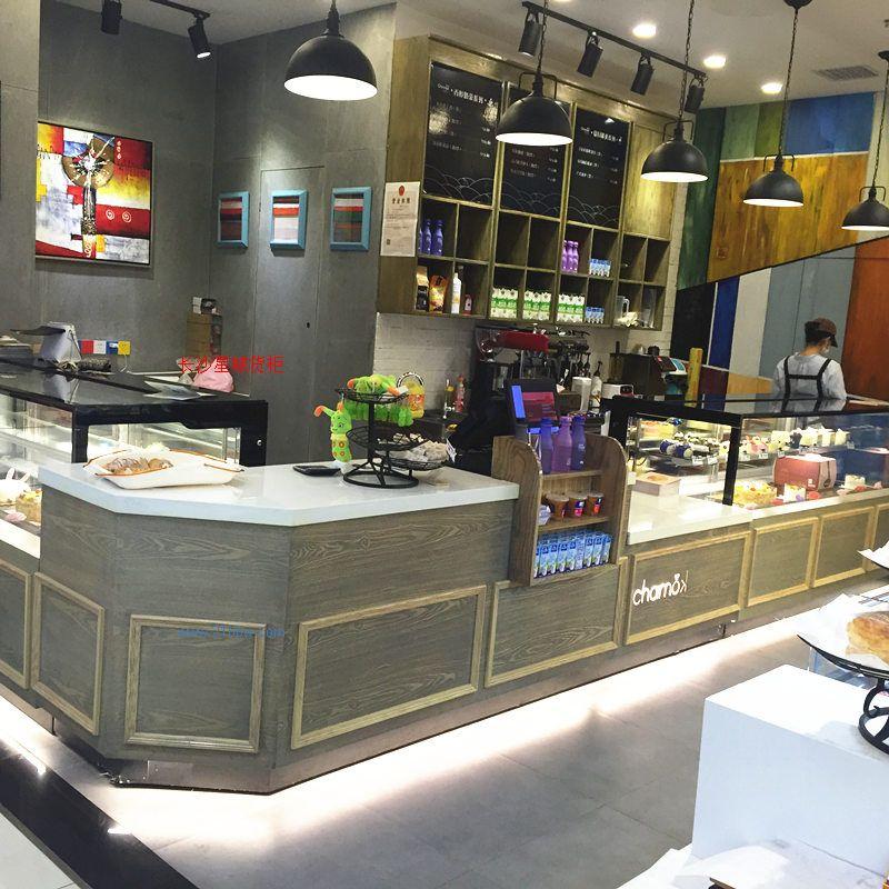 星城货柜专业制造各式面包岛柜,边柜,蛋糕展示柜,盘叉台,收银台,木盘