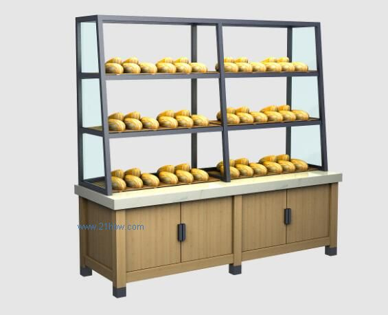 郑州河南郑州恒质蛋糕房展示柜/蛋糕模型柜/实木展柜