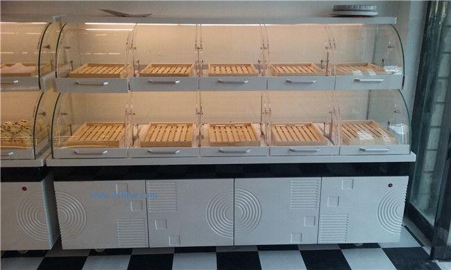 蛋糕样品展示柜,全木质面包展示柜,木制抽屉柜,不锈钢工作台,收银台