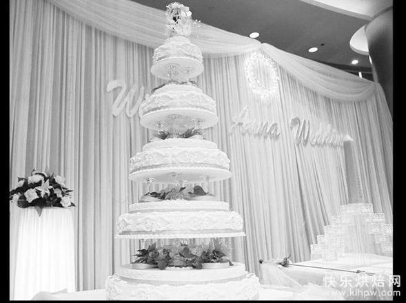 婚礼蛋糕,据传最早出现在古罗马时代。蛋糕一词出自英语,其原意是扁圆的面包,同时也意味着快乐幸福之意。在欧洲被邀请参加婚礼的客人还有这样一个习惯:把各自带来的放入香料的面包高高地堆在桌子上,让新郎新娘站在面包山的两侧,隔山交吻。这时的面包山也象征着幸福。 一直发展到现在,蛋糕也成了婚礼的必备物。尤其是现在很多接受了中西方思想双重浸染的80后年轻人,都希望在婚礼上,用那充满甜蜜滋味的蛋糕浸注他们对幸福和婚姻的注解。但是,对于婚礼蛋糕的价格及其行业内部的猫腻大部分人还都是茫然的。于是本报记者