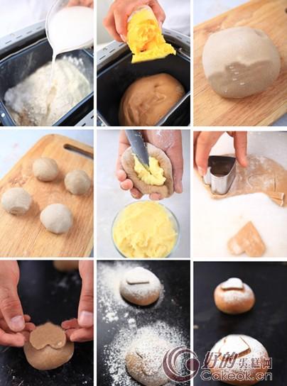 简单九步麻薯奶香面包的制作方法