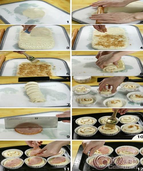 肉松火腿面包的配方与制作