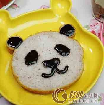 紫薯熊猫吐司的制作方法